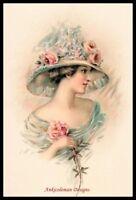 Vintage Rose Girl 1 - Chart Counted Cross Stitch Patterns Needlework DIY DMC