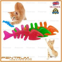 Durable Rubber Fish Pet Dog Puppy Cat Dental Teething Toy Gums Healthy Chew