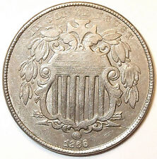 New listing 1866 Shield Nickel With Rays, Key Date, with Multiple Die Breaks. L@K!