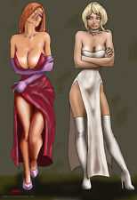 Envious Jessica Rabbit Holli Would Cool World hot 11x17 signed print Dan DeMille