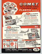 1956 PAPER AD comet Scale Model Toy Jets Airplanes Fighters Douglas Piper Apache