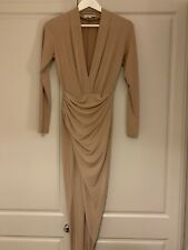 Never Fully Dressed Beige Camel Dress S/M Worn Once