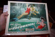 Howard Hughes Jane Russell Underwater 1955 original vintage Lobby card
