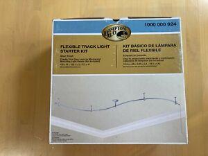 Hampton Bay 1000 000 924, 10 ft. Silver Flex Track Lighting Starter Kit, No Head