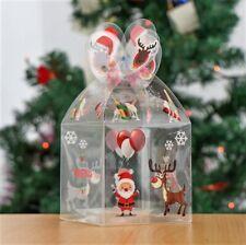 Transparent Candy Gift Box Packaging Christmas Decoration Santa Elk Reindeer