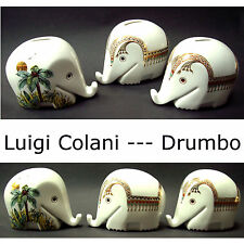 Luigi Colani - 3 x Drumbo Elefant - Höchst Germany - Spardose_money savings box