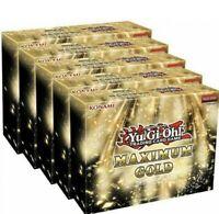 Yu-Gi-Oh! Maximum Gold Booster Box Display of 5 SEALED Mini Boxes Brand New