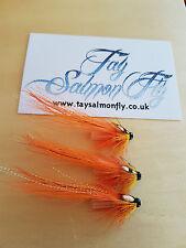 "3x Pot Belly Pig Flamethrower Copper Tube 1/4"" Salmon Flies"
