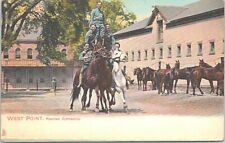 Lithograph New York West Point Military Academy Mounted Gymnastics early 1900s