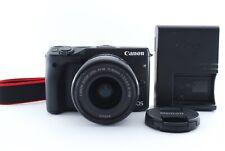 Canon EOS M3 24.2MP Digital SLR Camera - Black (Kit w/ EF-M 15-45mm Lens) Exc