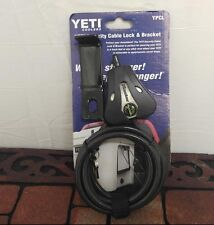 Authentic Yeti Coolers Security Cable Lock and Bracket - Ypcl