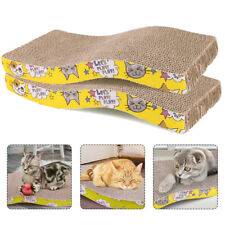 2 Pack Cat Scratcher Cardboard Pet Kitty Scratch Bed Sofa Lounge Pad with Catnip