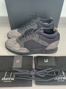 Dunhill London Radial Runner Sneakers Black Size 9 UK 43 EU Brand New Boxed