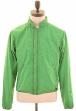 CALVIN KLEIN Mens Bomber Jacket Size 36 Small Green Polyester  CJ09