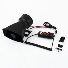 Loud Horn 12V Car Siren Auto Van Truck PA System 60W Max 300dB 5 Sounds tone F5