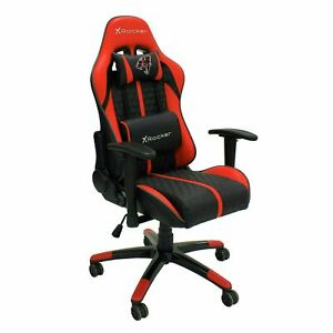 Arteon X Rocker Faux Leather Junior Gaming Chair - Red-GO111.