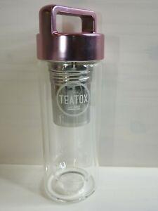 Teatox Thermo-GO mobile Teekanne  Chay Becher Rosegold 330ml NEU
