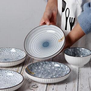 """""""Vintage Japanese"""" Dishes Dinner Plates Platters Home Restaurant Dinnerware"""