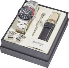 Quarz Herren Analog Armbanduhr Madison New York Taucheruhr Sportuhr 40mm Uhr