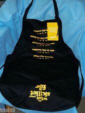 Velveeta Upside Down Liquid Gold Black Kitchen Apron - What Your Skillet Is For!