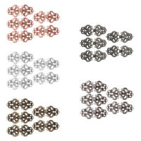 5Pairs Swirl Flower Cape Cloak Clasp Fasteners Hooks&Eyes Cardigan Clip Button