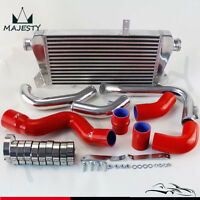 RED New Front Mount Intercooler Kit RED for Audi A4 1.8T Turbo B6 Quattro 02-06