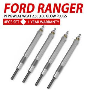 4PCS Glow Plugs FIT FORD RANGER PJ PK WLAT WEAT 2.5L 3.0L Diesel Set