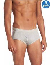 CALVIN KLEIN Mens Classic Fit Briefs Underwear Light Grey 3-Pack Small S NEW