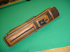 COPPER AND BROWN 4x8 or 6x10 CUE CASE SAVE $$ pool billiards CARLSCUES B9-3869