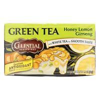 Celestial Seasonings Green Tea Honey Lemon Ginseng White Tea 120 Bags Case of 6