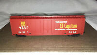 Vintage Ho Tyco  A.T. S. F. # 49277  Santa Fe Train Box Freight Car El Capitan