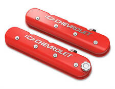 Tall LS Valve Cover with Bowtie/Chevrolet Logo Gloss Red Finish 241-404