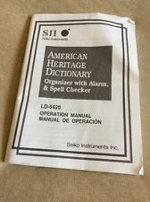 Sii Seiko Instruments Ld-5420 Operation Manual Only
