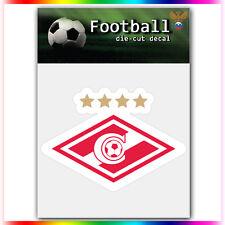 "FC Spartak Moskva UEFA Die Cut Vinyl Sticker Car Bumper Window 3""x4"""