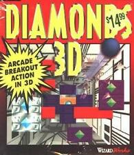 Diamonds 3D PC CD use ball to break out bricks on wall top down arcade game!