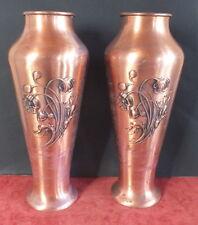 WMF paire grands vases cuivre art nouveau