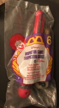 Disneys INSPECTOR GADGET  ARM SQUIRTER  McDonalds Toy 6  1999  Sealed