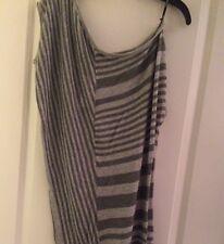 BeBe Striped Gray/Light Gray Tunic - Size M