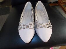NEW SALIN KHAKI BEADED AND CUT OUT PATTERN SHOES SIZE 6