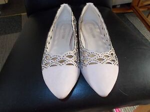 NEW CHERRY-KOKO KHAKI BEADED AND CUT OUT PATTERN SHOES SIZE 5