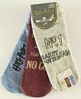 3 Paar Harry Potter Damen Sneaker Socken No.1 Fan Muggles Strümpfe 37-42 Primark