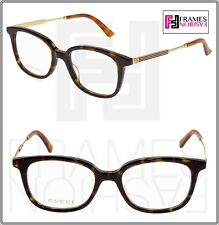 a668760e26d GUCCI Web Etched 0202 Havana Gold RX Eyeglasses Optical Frame 50mm GG0202  Unisex