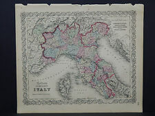 Colton's Maps, 1855, Authentic #23 Northern Italy