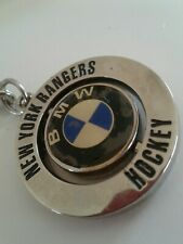 Vintage BMW  & NEW YORK RANGERS ROTATE KEYCHARM. COLLECTABLE  FOR CAR/ RANGERS