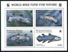 1998 Comoros, Coelacanthus Fishes, WWF,  souvenir sheet, MNH