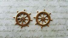 Stampings (2) - Gosg6208 Matte Gold Ox Ship Wheel