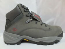 "Mens 6"" Wolverine Gray Leather Composite Safety Toe Work Boot Size 12 #10420"