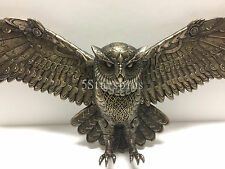 Flying Steampunk Owl Wall Plaque home decor figure statue sculpture