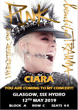 Pink Beautiful Trauma Tour 2019 Concert Tickets Ticket Card Birthday Christmas