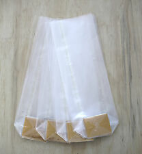 Clear Cello GUSSET BAGS with Flat Bottom - 50 pcs - food grade - TOP QUALITY!